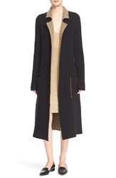 Atm Anthony Thomas Melillo Women's Reversible Felt Wrap Coat Black Toffee