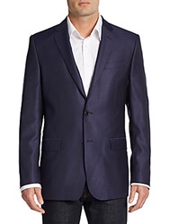 Versace Regular Fit Virgin Wool And Silk Sportcoat Deep Purple