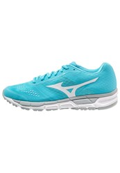 Mizuno Synchro Mx Cushioned Running Shoes Blue Atoll White Silver