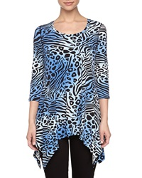 Chelsea And Theodore Animal Print Jersey Tunic Animal Ombre