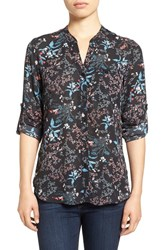 Kut From The Kloth Women's 'Jasmine' Print Roll Sleeve Blouse
