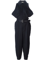 Comme Des Garcons Vintage Belted Sleeveless Jumpsuit Blue