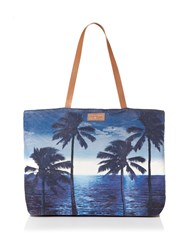 Seafolly Carried Away Tropix Beach Tote Indigo