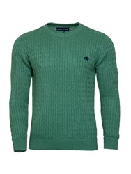 Raging Bull Men's Signature Cable Knit Green