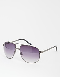 New Look Teardrop Aviator Sunglasses Black