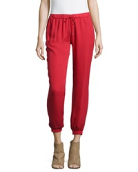 Haute Hippie New Slim Shady Jogger Pants Cerise