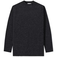Mhl By Margaret Howell Mhl. Rolled Edge Crew Knit Black