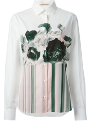 Christopher Kane Holographic Print Shirt White