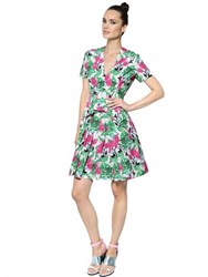 Antonio Marras Floral Print Ruffled Cotton Poplin Dress