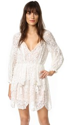 Zimmermann Gossamer Scallop Short Dress Ivory