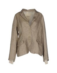 Ottod'ame Suits And Jackets Blazers Women Khaki