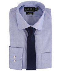 Lauren Ralph Lauren Pinpoint Spread Collar Classic Button Down Shirt Blue Men's Long Sleeve Button Up