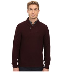 Perry Ellis Pullover Shawl Collar Knit Port Men's Clothing Burgundy