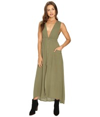 Billabong Voyager Maxi Dress Moss Women's Dress Green