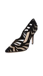 Paul Andrew Zenadia Cutout Pumps Black Blush