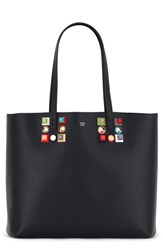 Fendi Roll Studded Calfskin Leather Tote