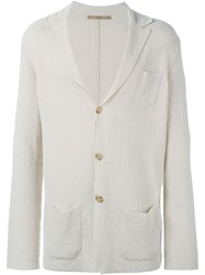Nuur Collared Button Down Cardigan Nude And Neutrals