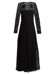 Red Valentino Macrame Lace Maxi Dress Navy