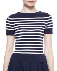 Michael Kors Short Sleeve Striped Knit Tee