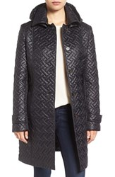 Larry Levine Women's Quilted Hooded Coat