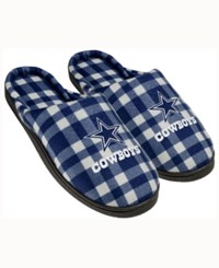 Forever Collectibles Dallas Cowboys Flannel Slide Slippers Navy