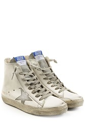 Golden Goose Francy Suede High Top Sneakers White