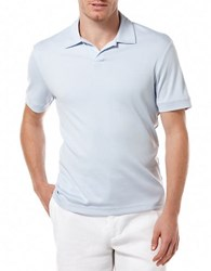 Perry Ellis Big And Tall Open Placket Polo Light Blue