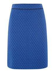 Dickins And Jones Skirt With Square Jacquard Blue