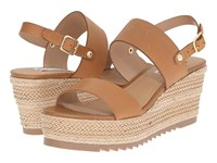 Steve Madden Waria Natural Leather Women's Wedge Shoes Brown