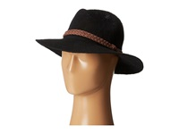 San Diego Hat Company Knh8008 Machine Knit Fedora W Braided Suede Trim Black Traditional Hats
