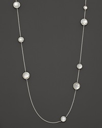 Ippolita Sterling Silver Wonderland Multi Round Stone Necklace In Mother Of Pearl Doublet 40