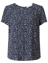 John Lewis Collection Weekend By Bird On A Wire Top Navy White
