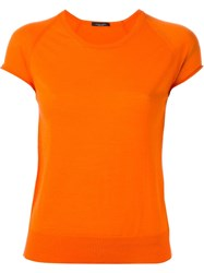 Roberto Collina Shortsleeved Fine Knit Top Yellow And Orange