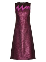Christopher Kane Lightning Bolt Metallic Dress