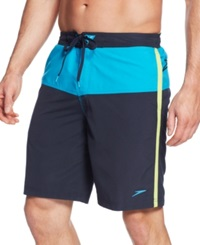 Speedo Long Bay E Board Shorts New Navy