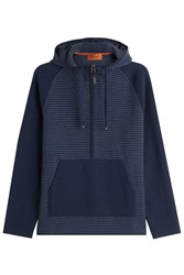 Missoni Zipped Wool Jacket With Hood Blue