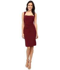 Laundry By Shelli Segal X Back Jersey Cocktail Dress Deep Garnet Women's Dress Burgundy