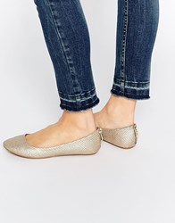 Call It Spring Brevia Champagne Ballerina Flat Shoes Champagne Gold