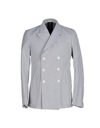 M.Grifoni Denim Suits And Jackets Blazers Men Steel Grey