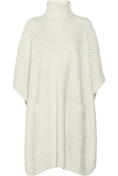 Alice By Temperley Lori Chunky Knit Poncho White