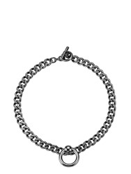 Mawi Bondage Chain Necklace With Nipple Ring Silver