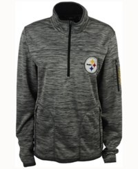 G3 Sports Men's Pittsburgh Steelers Franchise Quarter Zip Pullover Gray Black
