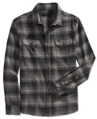 Kr3w Men's Ambush Plaid Shirt Black