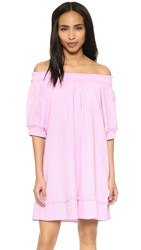 Apiece Apart Felina Off Shoulder Dress Orchid