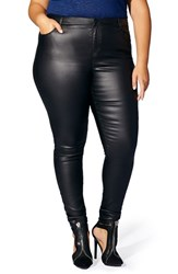 Mblm By Tess Holliday Plus Size Women's Coated Skinny Jeans
