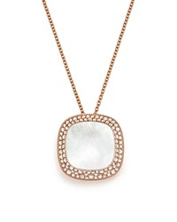 Roberto Coin 18K Rose Gold Carnaby Street Diamond And Mother Of Pearl Necklace 16