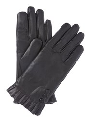 Isotoner Smart Touch Water Resistant Leather Glove Black
