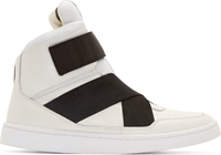 Johnlawrencesullivan White Leather High Top Sneakers