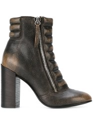 Diesel 'D Amelia' Ankle Boots Brown