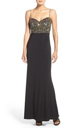Adrianna Papell Women's Sequin Jersey Mermaid Gown